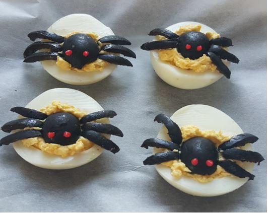 Homemade Halloween Snacks - Devilled Eggs | Zazzle UK Blog