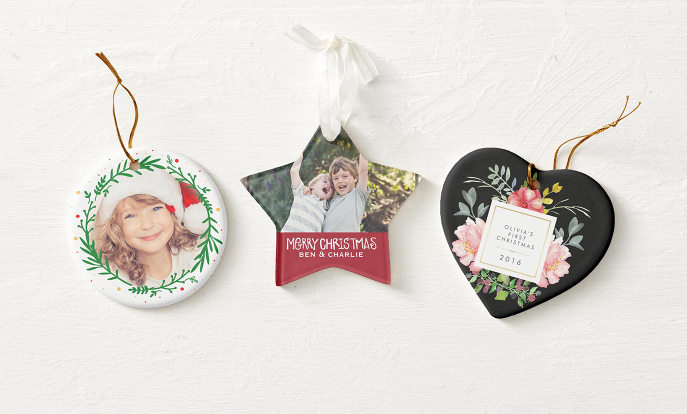 Personalised Christmas Tree Decorations - Zazzle UK