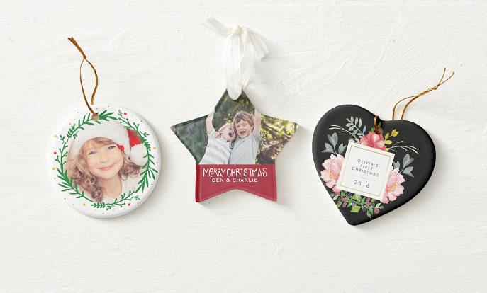Personalised Christmas Tree Decorations - Zazzle UK