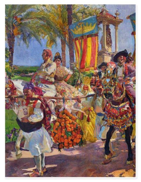 Joaquín Sorolla - Couples On Horseback Postcard - UK Zazzle Blog