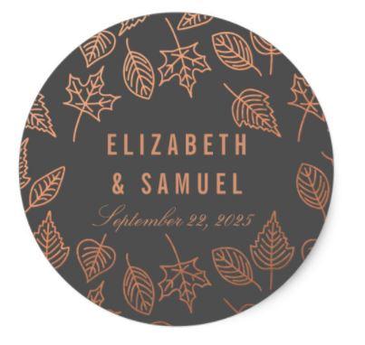 Copper Wedding Sticker