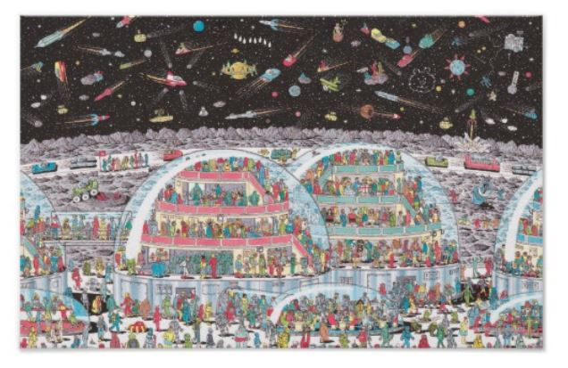 Where's Wally - Space