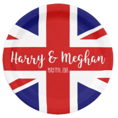 Royal Wedding Paper Plate