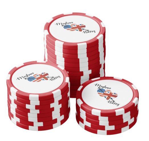 Harry & Meghan Poker Chips - Royal Wedding Games
