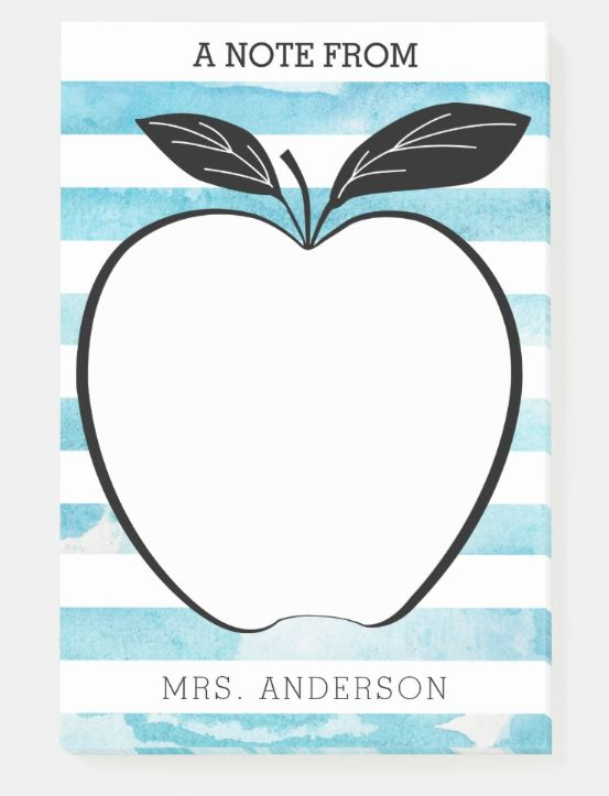 Teacher Post It Notes - Teacher Gift Ideas