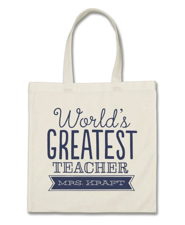 Teacher Tote Bags - Teacher Gift Ideas