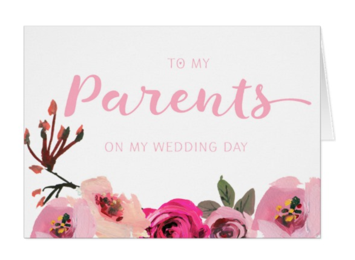 Parents Wedding Thank You Cards