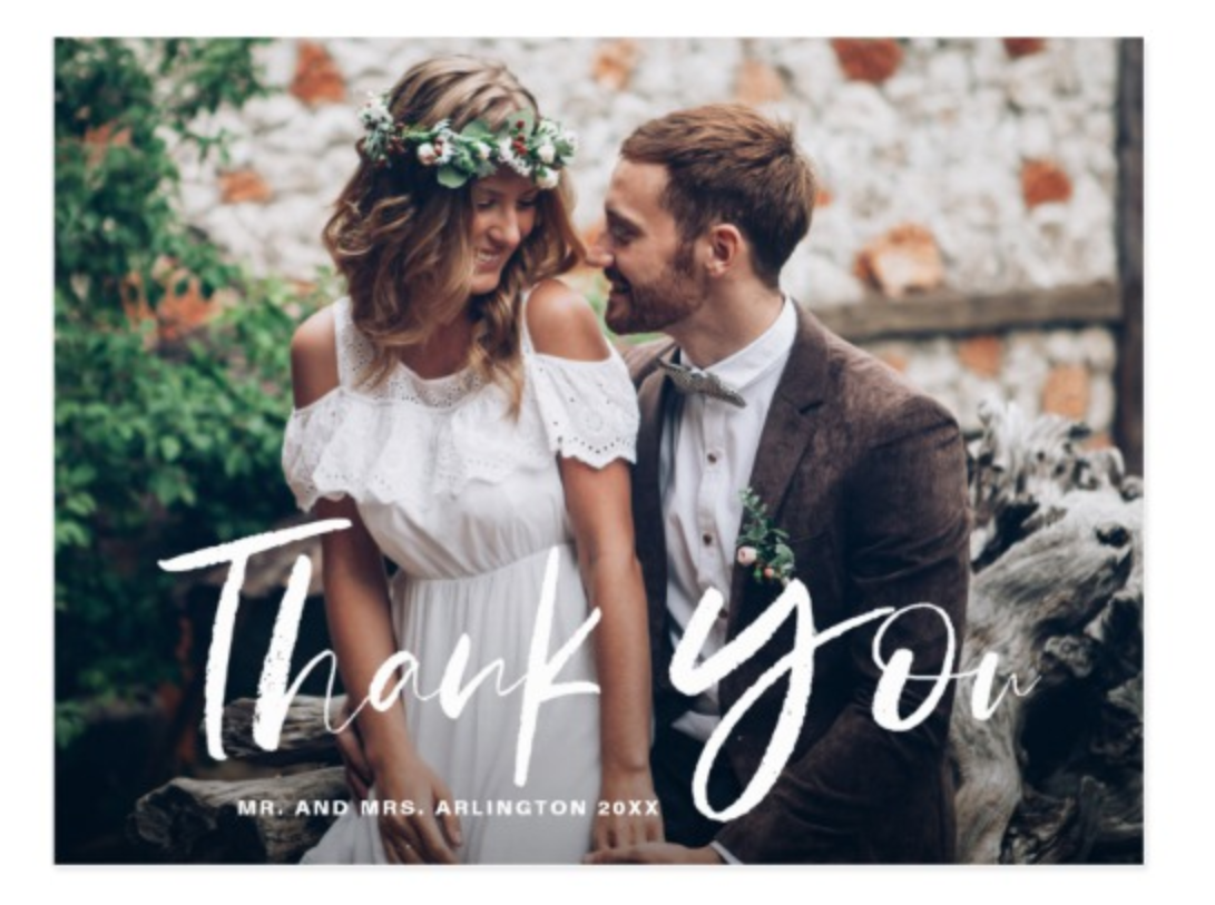 Photo Wedding Thank You Cards