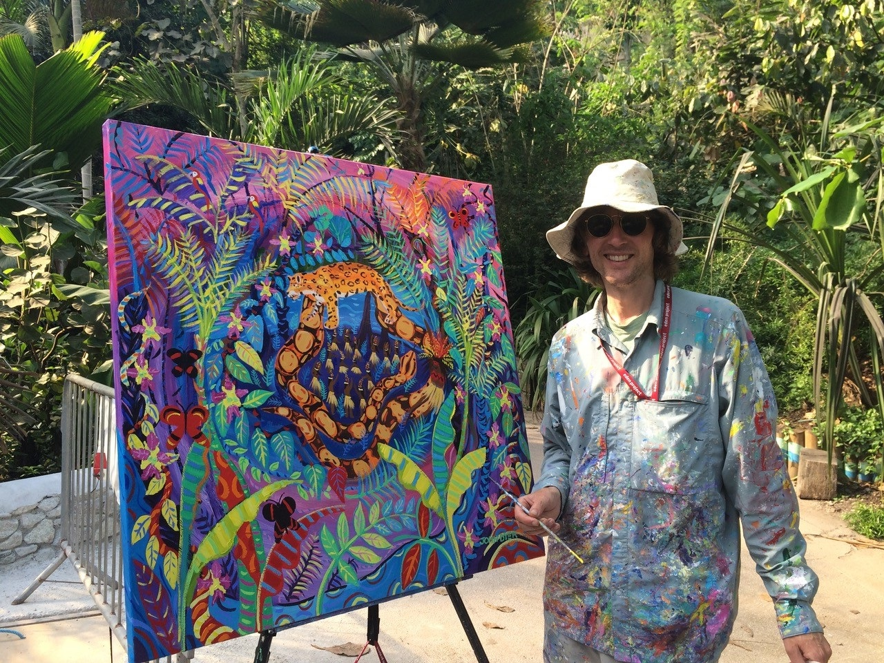 John Dyer Painting The Amazon Rainforest