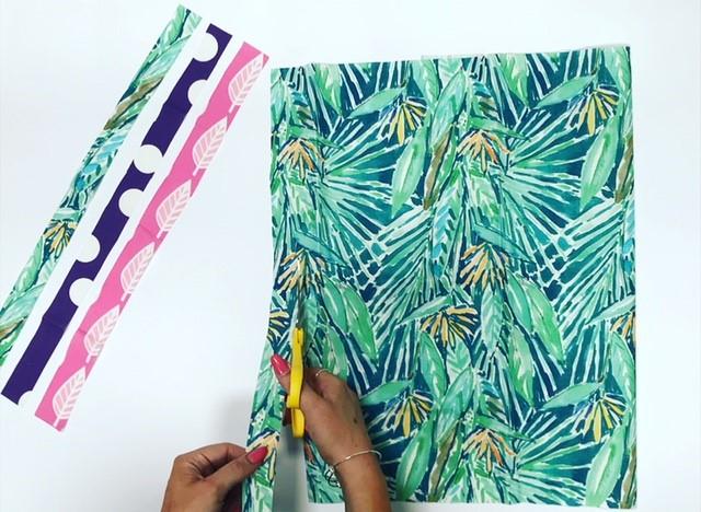 DIY Fabric Garland - Cutting Fabric