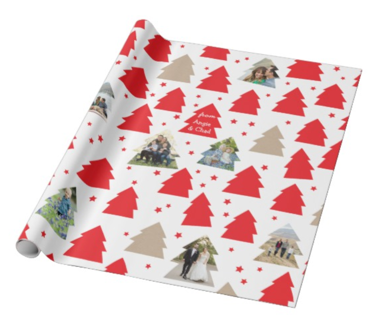Christmas Tree Photo Wrapping Paper