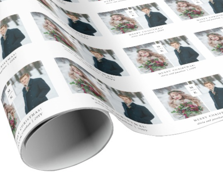 Modern Photo Christmas Wrapping Paper