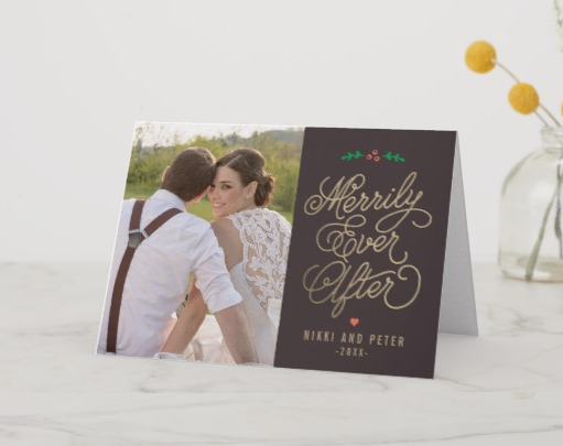 Married & Merry Christmas Card