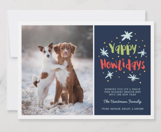 Happy Howlidays Christmas Card