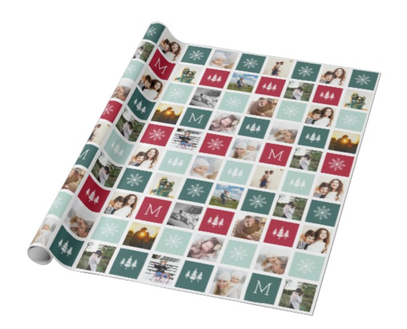 Collage Christmas Wrapping Paper