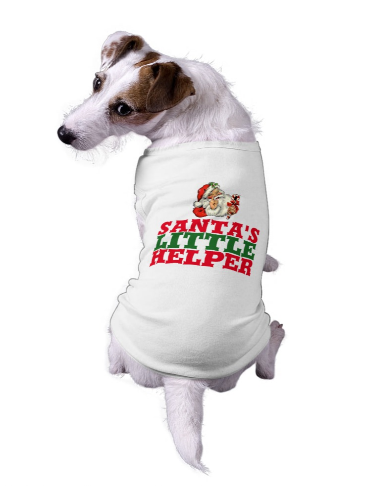 Best Christmas T-Shirts - Funny Santa's Helper Dog Shirt