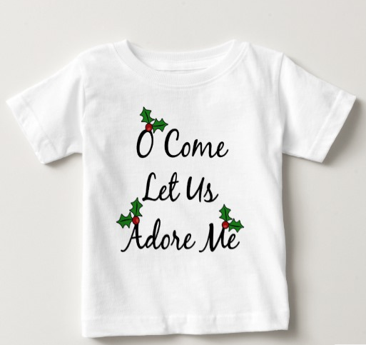 Best Christmas T-Shirts - O Come Let Us Adore Me Christmas Baby T-Shirt