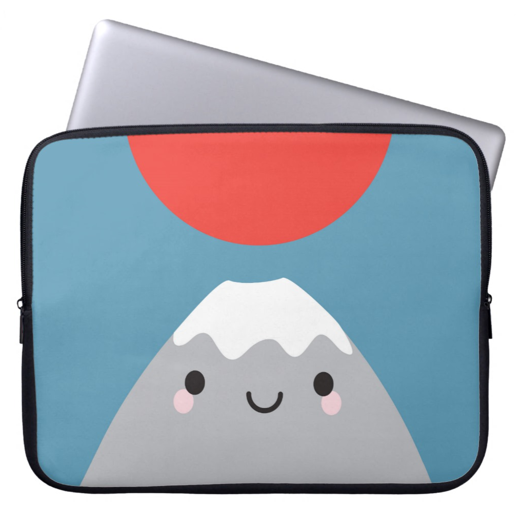 Kawaii Mt Fuji San Laptop Sleeve
