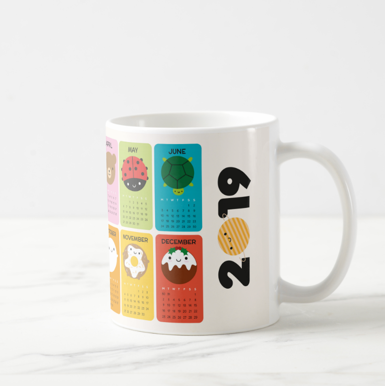 Kawaii 2019 Calendar Coffee Mug