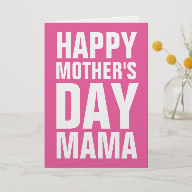 Typographic Mother's day card