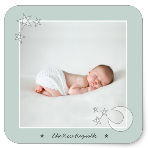 Baby Announcement Photo Sticker