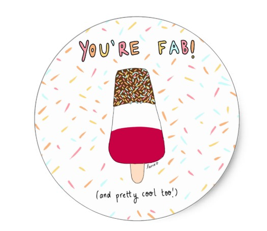 Hello Happee: You're Fab Sticker
